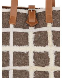 Carmina Campus - Brown Karla Recycled Shearling Tote Bag - Lyst