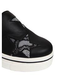 Stella McCartney - Black 60mm Binx Faux Leather Slip-on Sneakers - Lyst