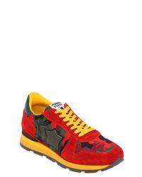 Atlantic Stars - Red Sirius Suede & Nylon Running Sneakers for Men - Lyst