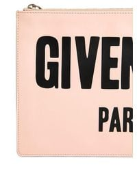 Givenchy - Pink Medium Iconic Printed Leather Pouch - Lyst