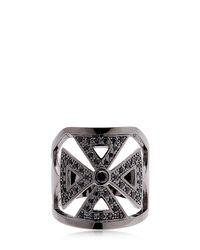 FEDERICA TOSI - Metallic Faith Crystal & Brass Ring - Lyst