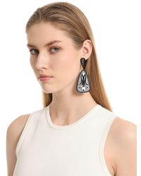 Anna E Alex - Black Tulipano Earrings - Lyst