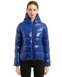 Duvetica - Blue Thia 5 Shiny Nylon Down Jacket - Lyst