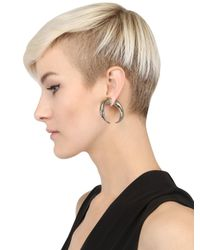 Givenchy - Metallic Double Cone Shark Brass Mono Earring - Lyst