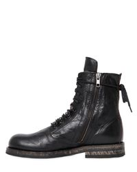 Ann Demeulemeester - Black 20mm Washed Leather Ankle Boots - Lyst