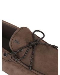 Tod's | Brown Gommino 122 My Color Nubuck Driving Shoe for Men | Lyst