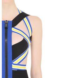 DSquared² Multicolor Striped Elastic Bandage Bodycon Dress
