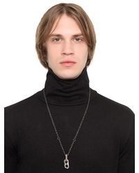 Henson - Metallic Carved Links Necklace for Men - Lyst