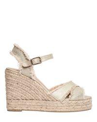 Castaner - 100mm Bromelia Metallic Wedge Sandals - Lyst