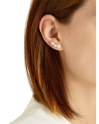 Anissa Kermiche - Metallic Menage A Trois White Pearl Mono Earring - Lyst