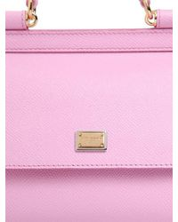 Dolce & Gabbana - Pink Micro Sicily Dauphine Leather Bag - Lyst