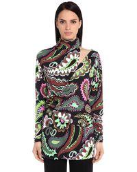 Emilio Pucci | Gray High Collar Printed Shirt | Lyst