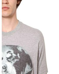 Givenchy - Gray Columbian Needle Punch Jersey T-shirt for Men - Lyst
