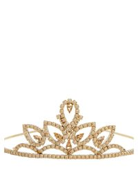 RED Valentino - Metallic Red V Crystals Embellished Tiara - Lyst