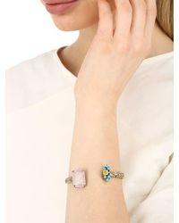 Iosselliani - Metallic Quartz Bangle Bracelet - Lyst