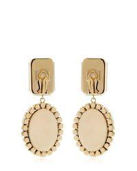 Bijoux De Famille | Metallic Karl Cameo Pendant Earrings | Lyst
