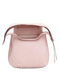 Tod's - Pink Mini Wave Gommino Leather Backpack - Lyst
