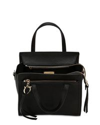 Ferragamo - Black Small Amy Leather Top Handle Bag - Lyst
