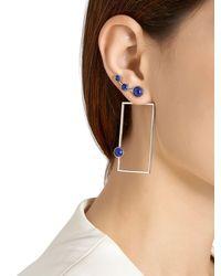 Eshvi - Blue Lava Sodalite Geometric Earrings - Lyst