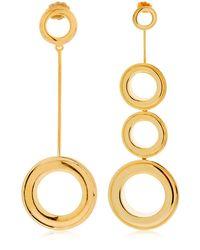 Joanna Laura Constantine - Metallic Asymmetrical Grommet Earrings - Lyst