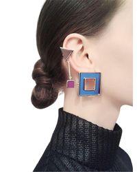 Sylvio Giardina | Multicolor Seven 7 Ear Cuff & Stud Mono Earring | Lyst