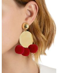 Elizabeth and James - Multicolor Stevie Pompom Earrings - Lyst
