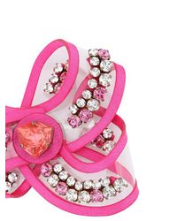 Shourouk - Pink Bow Line Rose Pin - Lyst