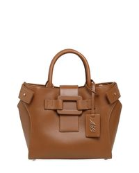 Roger Vivier - Brown Small Pilgrim De Jour Leather Bag - Lyst
