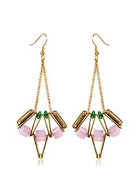 Scho | Metallic Lotus Earrings | Lyst