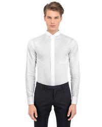 Dior Homme | White Mandarin Collar Cotton Shirt for Men | Lyst