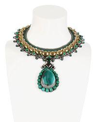 Ranjana Khan   Green Intricate Envious Collar Necklace   Lyst