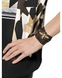 Givenchy - Brown Obsedia Wrap Around Leather Bracelet - Lyst
