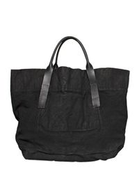 Rick Owens | Black Spray Waxed Cotton Denim Maxi Tote Bag for Men | Lyst