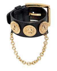Versus  | Metallic Leather Bracelet With Medusa Coins | Lyst