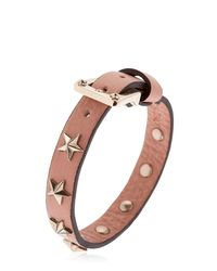 RED Valentino - Multicolor Leather Bracelet W/ Star Studs - Lyst