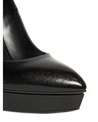 Saint Laurent - Black 130mm Janis Tumbled Leather Pumps - Lyst