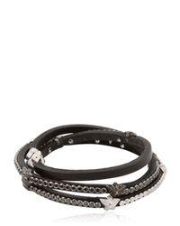 Tomasz Donocik - Black Super Diamond Stars Bracelet - Lyst