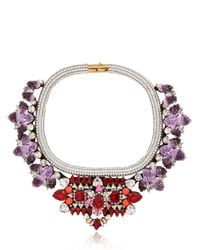 Shourouk | Purple Avalon Necklace | Lyst