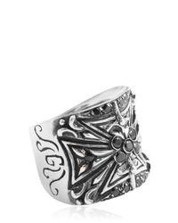 Gfase - Black G Ring for Men - Lyst