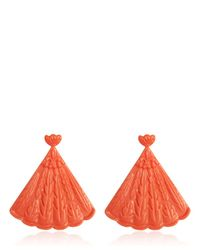 Mariah Rovery | Pink Brinco Leque Earrings | Lyst