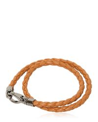 "Tod's | Brown ""my Colors"" Braided Leather Bracelet for Men 
