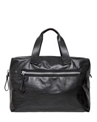 Lanvin | Black Big Nappa Leather Bowling Bag | Lyst