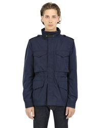 Burberry Brit | Blue Techno Canvas Field Jacket for Men | Lyst