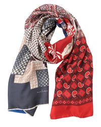 Pierre Louis Mascia | Layered Printed Silk & Cotton Scarf | Lyst