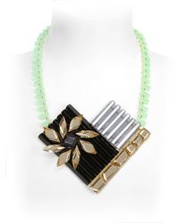 Silvia Rossi - Black Sun Flower Necklace - Lyst