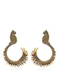 Lanvin | Metallic Squirrel Shaped Earrings | Lyst