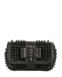 Christian Louboutin | Black Sweety Charity Spikes Leather Bag | Lyst