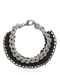 Alienina - Black Odyssee Rope Necklace - Lyst