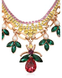 Mawi - Multicolor Layered Love Bug Crystal Necklace - Lyst