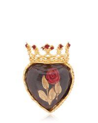 Dolce & Gabbana - Metallic Sacred Heart Ring - Lyst